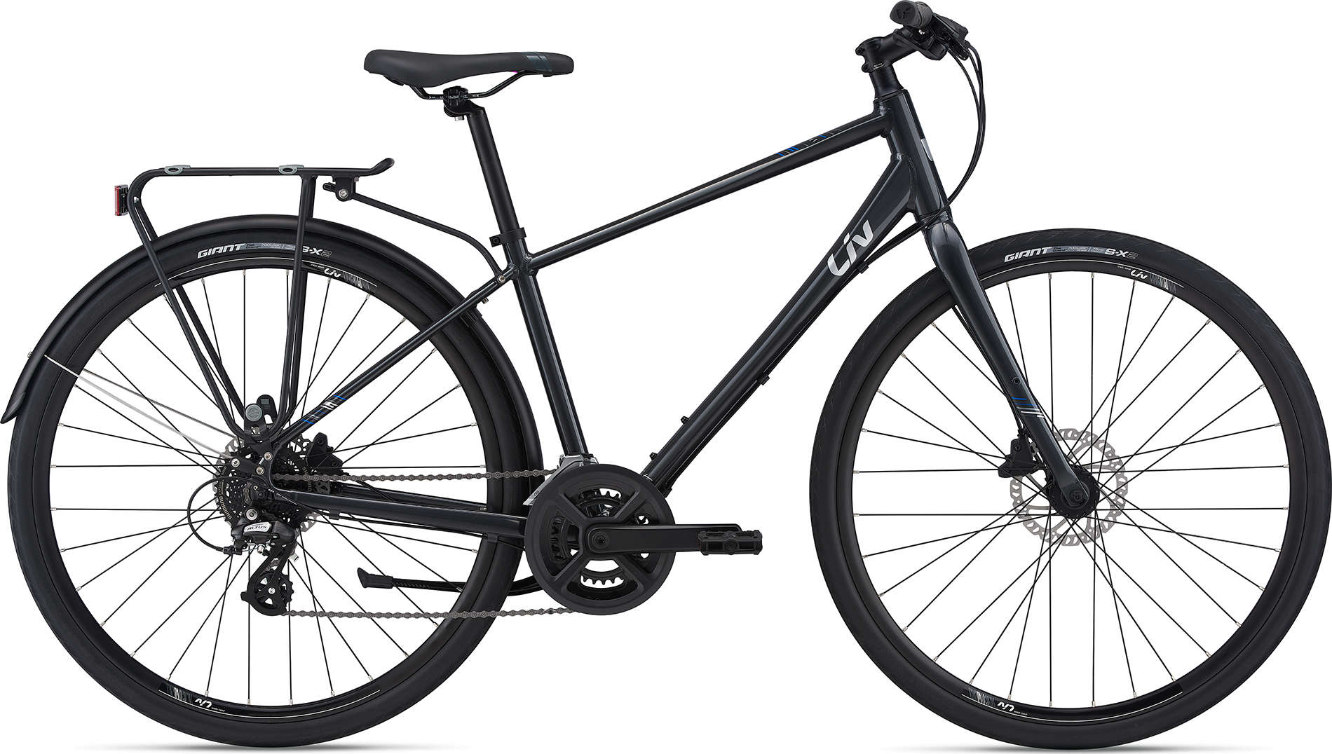 SellisBike - Liv Alight 2 DD City Disc Gunmetal Black
